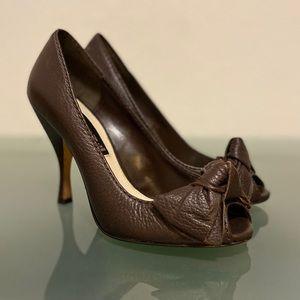 Steve Madden Pebbled Leather Peep-toe Women's Pump